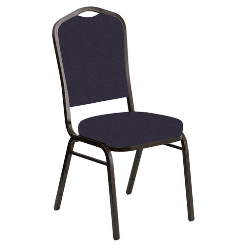 Our Crown Back Banquet Chair in Bonaire Duke Fabric - Gold Vein Frame is on sale now.