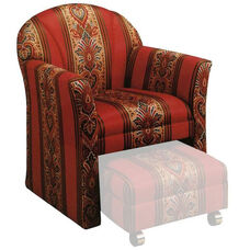 9400 Upholstered Lounge Chair w/ Open Front Under Seat - Grade 1
