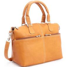 Weekender Duffel Bag - Genuine Colombian Leather - Tan