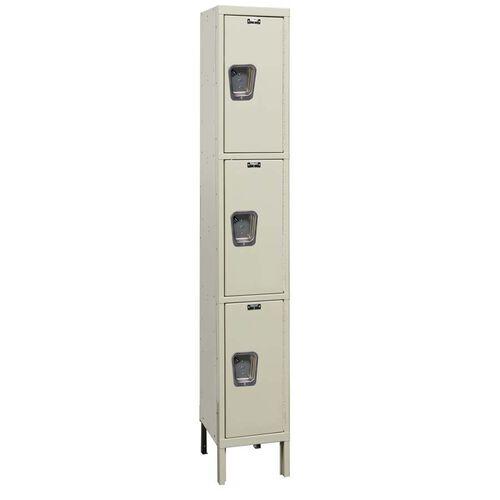 Our Quiet Stock Locker One-Wide Triple-Tier Locker - Unassembled - 12