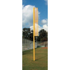 Professional Steel Foul Poles - Set of 2 in Powder Coated Optic Yellow