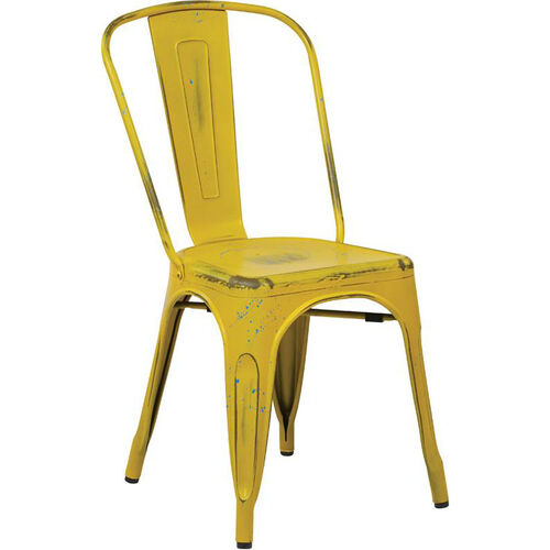 Our OSP Designs Bristow Stackable Armless Metal Chair - Set of 2 - Antique Yellow is on sale now.