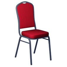 Crown Back Banquet Chair in Sherpa Fabric - Silver Vein Frame