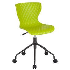 Brockton Contemporary Design Citrus Green Plastic Task Office Chair