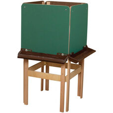 4-Sided Adjustable Art Easel with Chalkboard and Brown Trays - 24