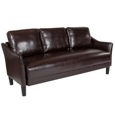 Asti Upholstered Sofa in Brown Leather
