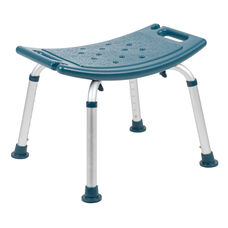 HERCULES Series Tool-Free and Quick Assembly, 300 Lb. Capacity, Adjustable Navy Bath & Shower Chair with Non-slip Feet