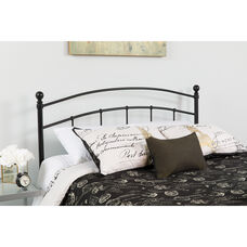 Woodstock Decorative Black Metal Twin Size Headboard