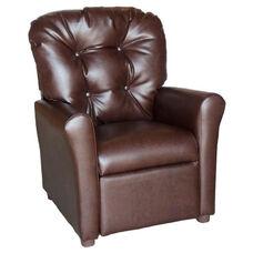 Kids Recliner with Button Tufted Back - Dempsey Chocolate
