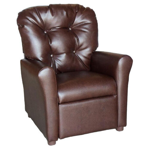 Our Kids Recliner with Button Tufted Back - Dempsey Chocolate is on sale now.