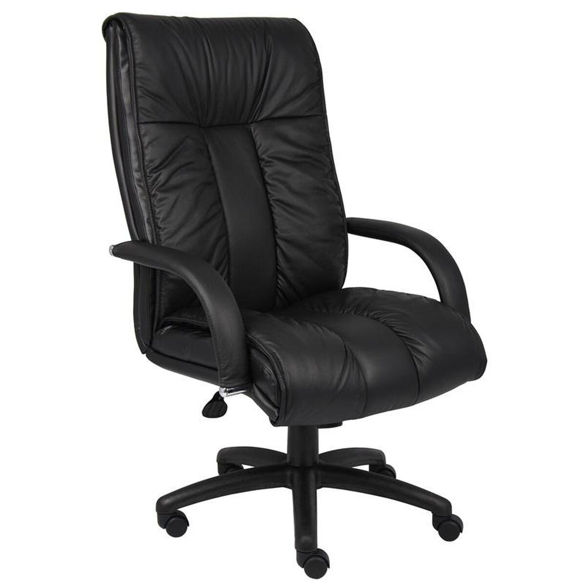 Higbacexsofi Boss Our Italian Leather High Back Executive Chair With Armrests Black Is On Now
