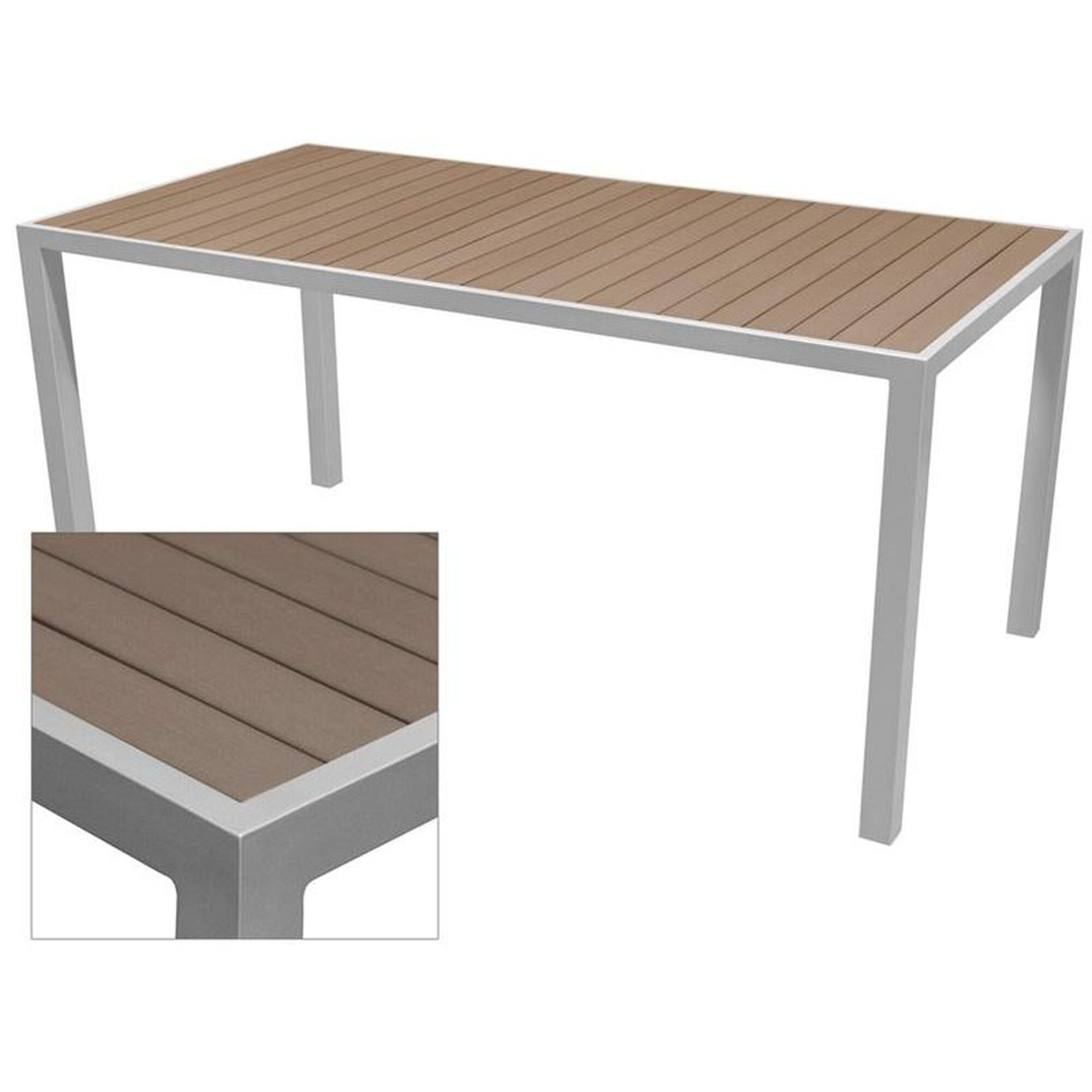 Source contract sedona 32 39 39 x 64 39 39 rectangular table with for Transmutation table 85 items