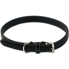 Perry Street Luxury Medium Dog Collar - Genuine Leather - Black