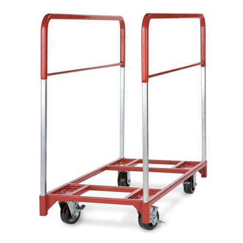 Steel Frame Narrow Round Folding Table Mover - 24