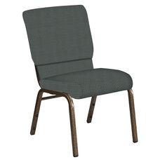 18.5''W Church Chair in Canterbury Pewter Fabric - Gold Vein Frame