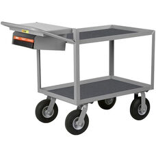 Instrument Cart With 2 Vinyl Shelves And Storage Pocket with Writing Shelf - 48