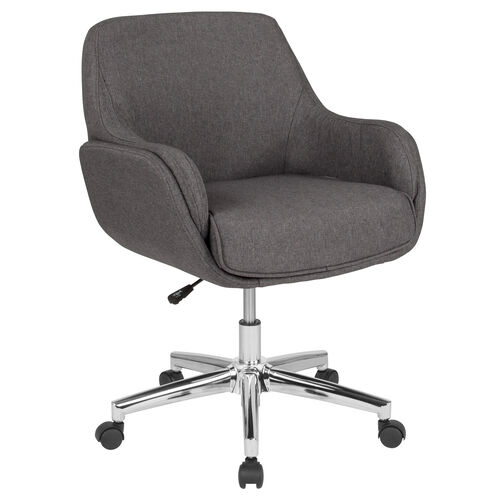 Our Rochelle Home and Office Upholstered Mid-Back Chair in Dark Gray Fabric is on sale now.