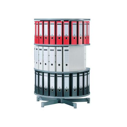 Moll 3 - Tier Spin N File Rotary Binder Storage Carousel for Letter Sized Materials - White