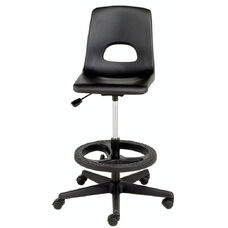 Millennium Series Adjustable Lab Stool with Foot Ring