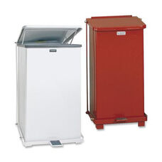 Rubbermaid Commercial Products Defenders Steel Step Cans - 15.5