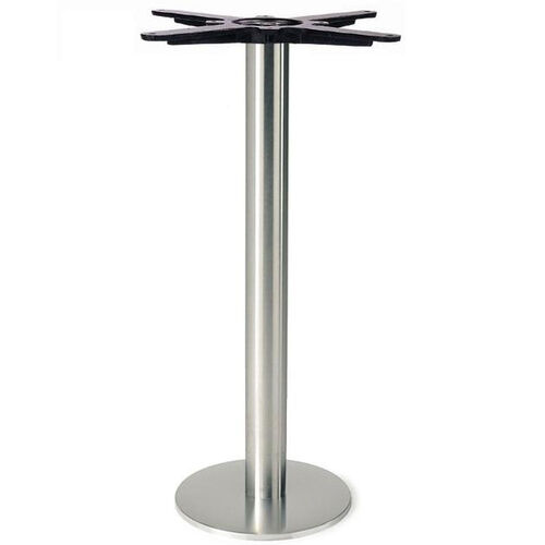 Brushed Stainless Steel Bolt Down Round Table Base