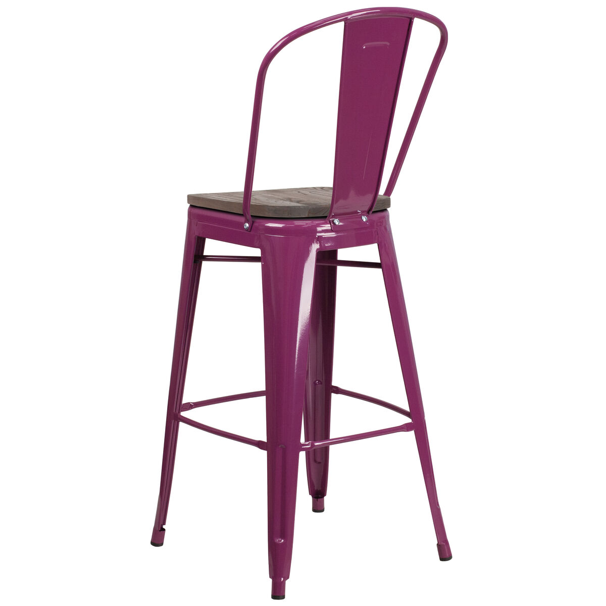 30 Purple Metal Bar Stool Et 3534 30 Pur Wd Gg Bizchaircom