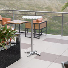 "23.5"" Round Aluminum Indoor-Outdoor Bar Height Table"