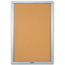 One Door Enclosed Aluminum Bulletin Board - 36