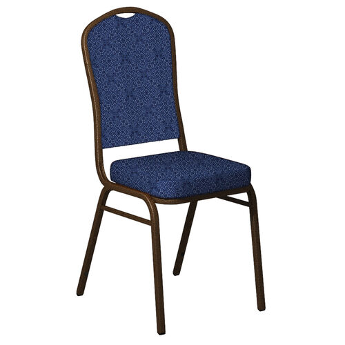 Our Embroidered Crown Back Banquet Chair in Faith Fabric - Gold Vein Frame is on sale now.