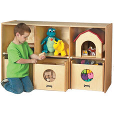 See-n-Wheel Shelf with 3 Compartments