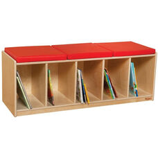 Cushioned Healthy Kids Plywood Reading Bench - Assembled - 45