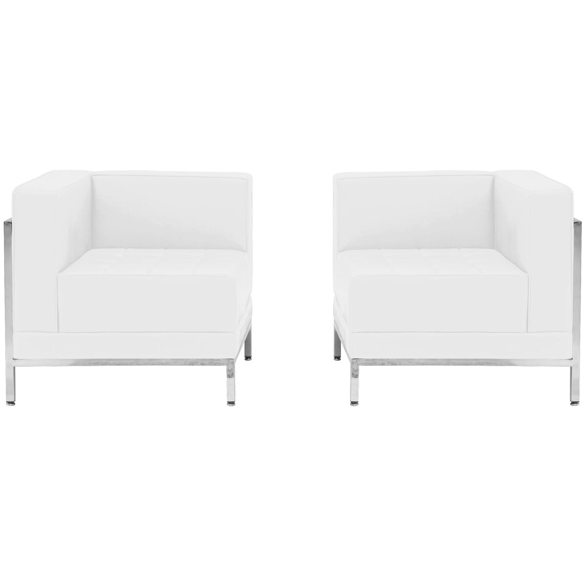 Our Hercules Imagination Series Melrose White Leather 2 Piece Corner Chair Set Is On Now