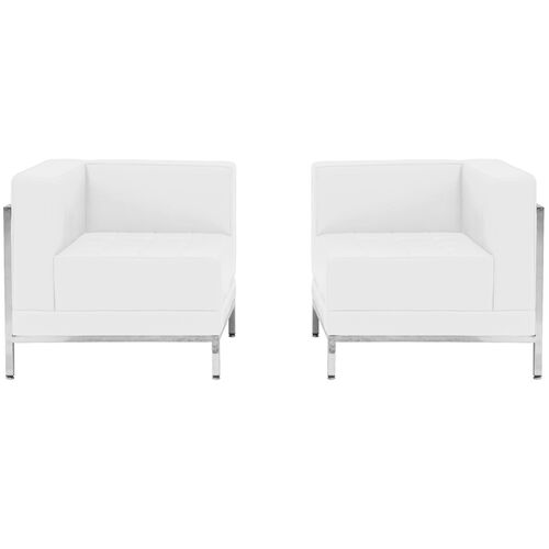 Our HERCULES Imagination Series Melrose White Leather 2 Piece Corner Chair Set is on sale now.