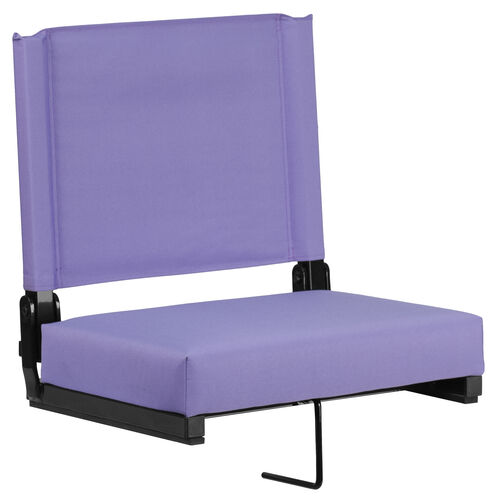 Our Grandstand Comfort Seats by Flash with Ultra-Padded Seat in Purple is on sale now.