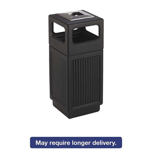 Our Safco® Canmeleon Ash/Trash Receptacle - Square - Polyethylene - 15gal - Textured Black is on sale now.