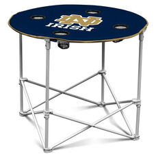 University of Notre Dame Team Logo Round Folding Table