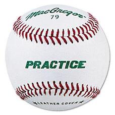 MacGregor® #79P Leather Practice Baseballs - 1 Dozen