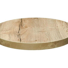 Marco 30'' Round Melamine Table Top - Natural Oak