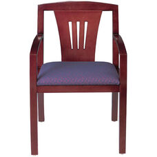Quick Ship Contempo Fan Back Arm Chair