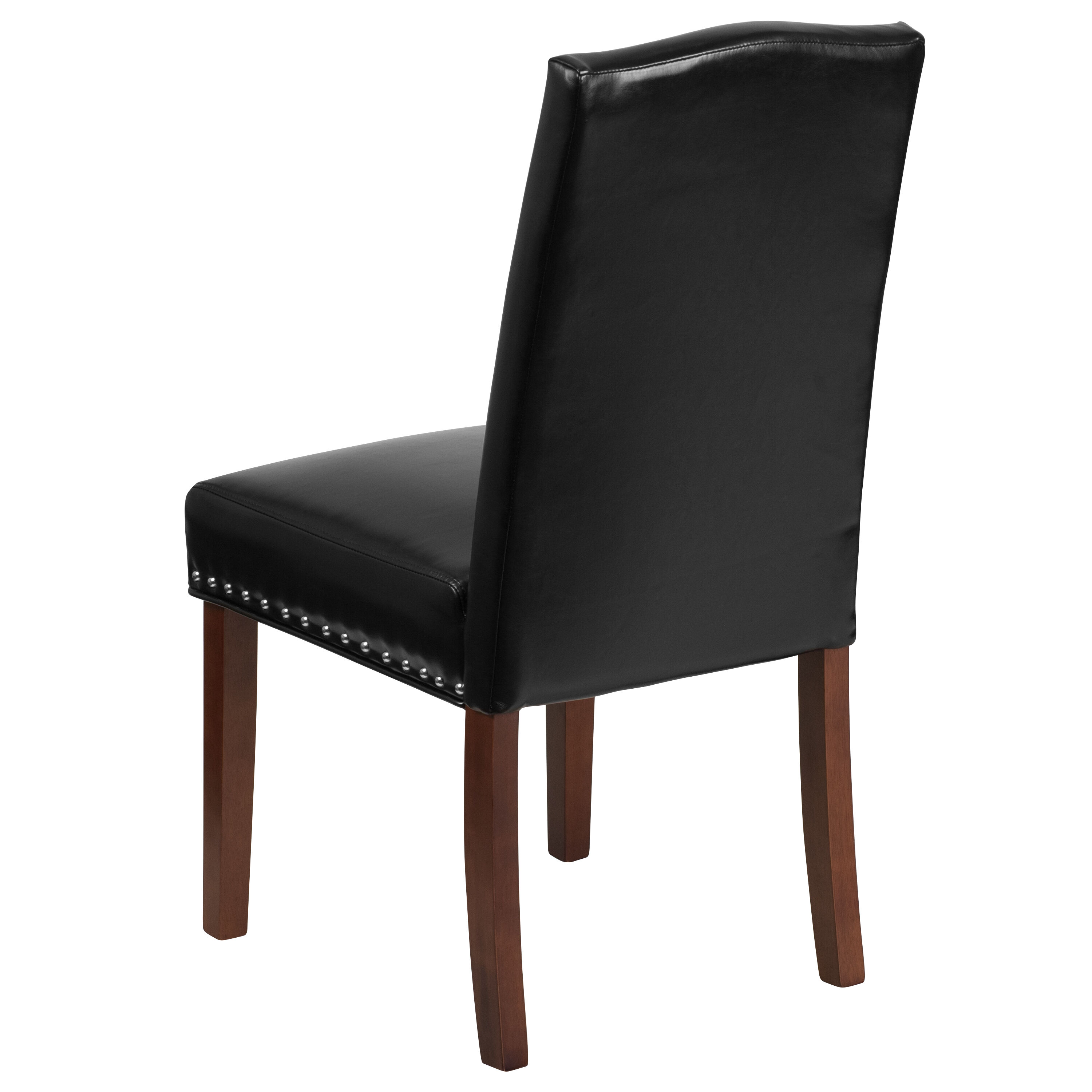 ... Our HERCULES Hampton Hill Series Black Leather Parsons Chair With  Silver Accent Nail Trim Is On ...