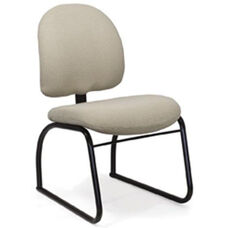 Desire Side Chair with Low Backrest and Four Leg Base with Casters - Grade B