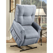 Economy Model Two Way Reclining Power Lift Chair with Magazine Pocket - Dawson Blue Fabric