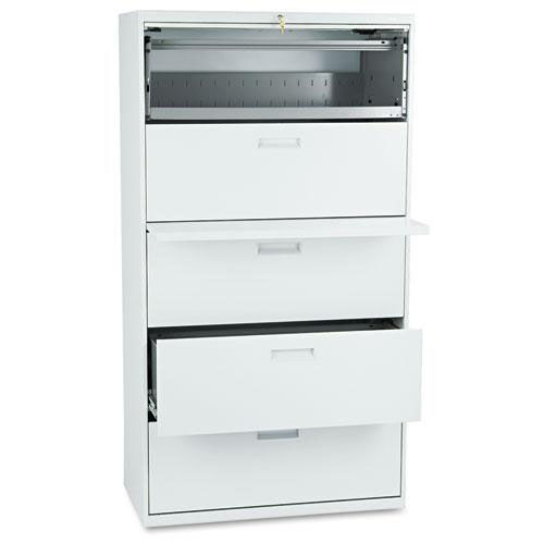 Our HON® 500 Series Five-Drawer Lateral File - 36w x 19-1/4d x 67h - Light Gray is on sale now.