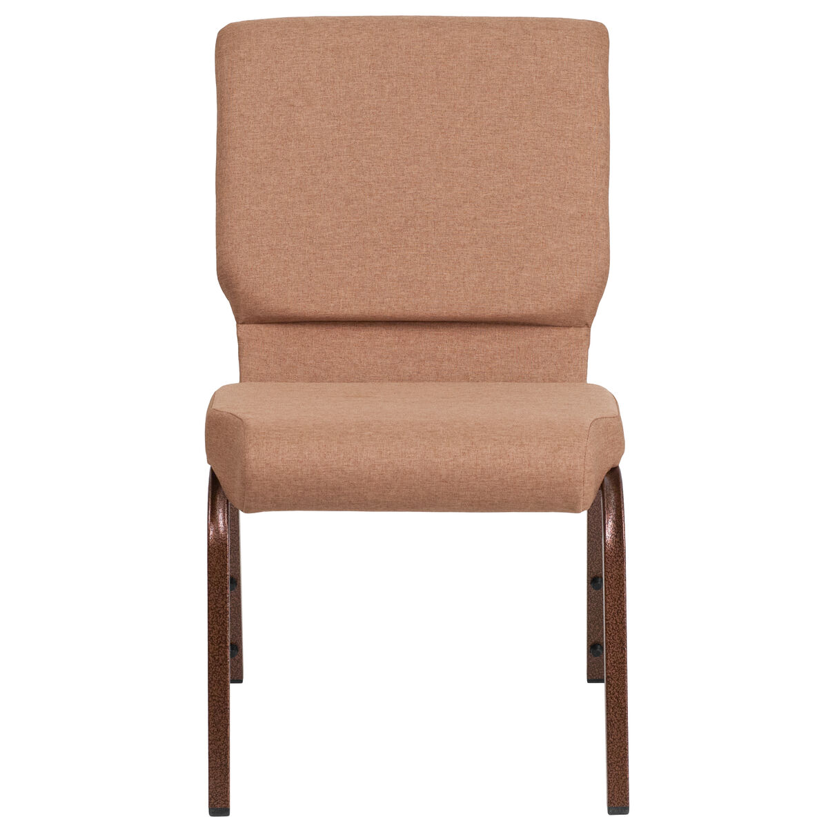 caramel fabric church chair fd