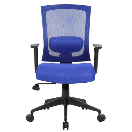 Our Breathable Mesh Ractchet Back Task Chair With Adjustable Height Armrests - Blue is on sale now.