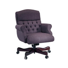 Renaissance Series Rolled Arm Executive Swivel Chair with Tufts