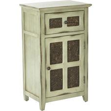 Inspired By Bassett Kenworth Hand Painted Storage Cabinet - Antique Celadon
