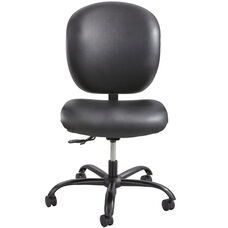 Alday™ 24/7 Big and Tall Vinyl Task Chair with Plastic Ergo Core Back - Black