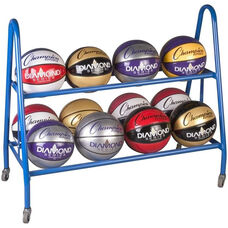 12 Count Powdercoated Basketball Cart