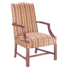 5022 Lounge Chair: Martha Washington w/ Chippendale Legs - Grade 1